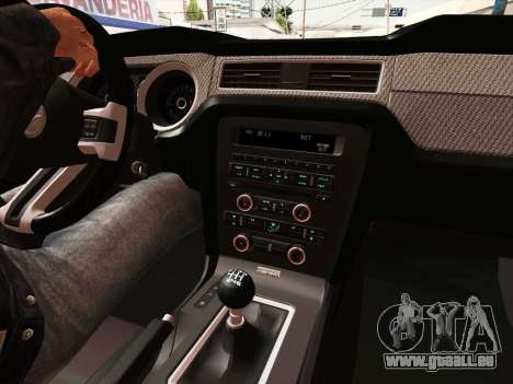 Ford Mustang Boss 302 2013 pour GTA San Andreas vue intérieure