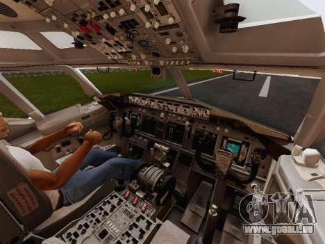 Boeing 737-800 Jet2 pour GTA San Andreas vue intérieure