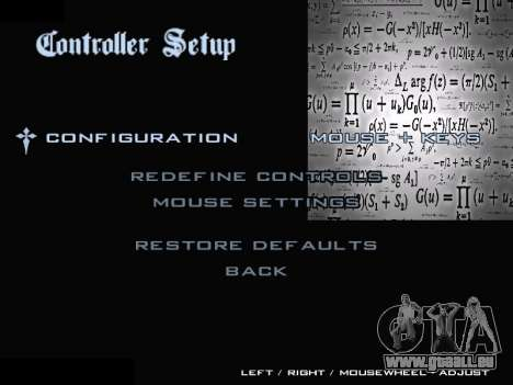 New Menu 2001 pour GTA San Andreas sixième écran