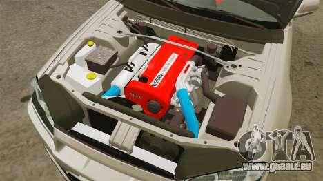 Nissan Skyline GT-R R34 V-Spec II pour GTA 4 est une vue de l'intérieur
