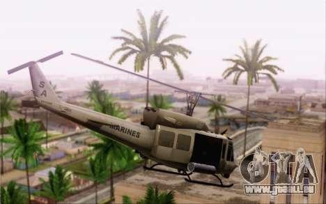 Bell UH-1N Twin Huey pour GTA San Andreas laissé vue