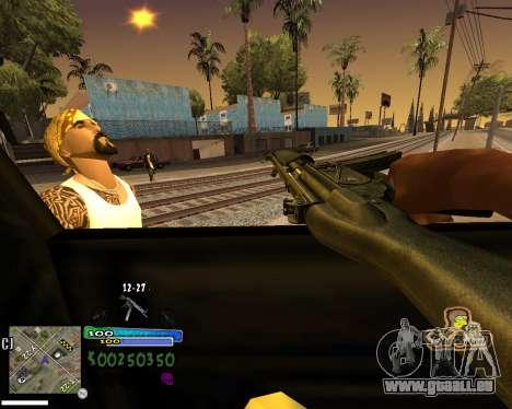 Vue à partir de la première personne pour GTA San Andreas cinquième écran