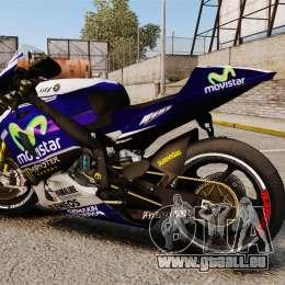 Yamaha YZR-M1 für GTA 4 linke Ansicht