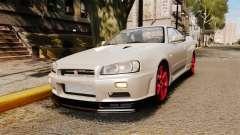 Nissan Skyline GT-R R34 V-Spec II für GTA 4