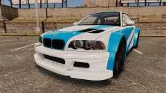 BMW M3 GTR 2012 Most Wanted v1.1 für GTA 4