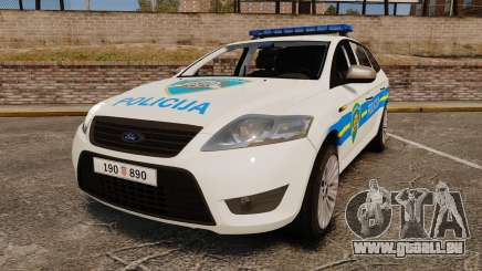 Ford Mondeo Croatian Police [ELS] pour GTA 4