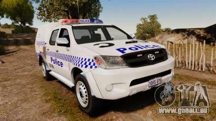 Toyota Hilux Police Western Australia für GTA 4