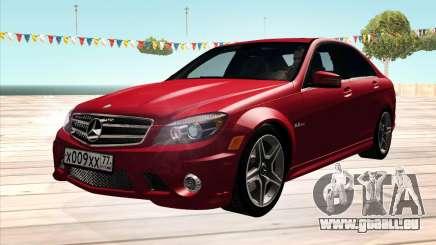 Mercedes-Benz C63 AMG HQLM pour GTA San Andreas