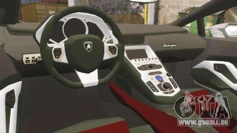 Lamborghini Huracan Hungarian Police [ELS] pour GTA 4 est une vue de l'intérieur