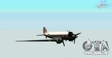 C-47 Dakota de l'USAF pour GTA San Andreas laissé vue
