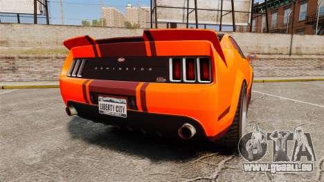 GTA V Vapid Dominator wheels v2 pour GTA 4 Vue arrière de la gauche