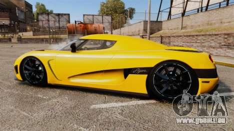 Koenigsegg Agera TE [EPM] pour GTA 4 est une gauche