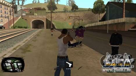 C-HUD Kings of Rap pour GTA San Andreas troisième écran