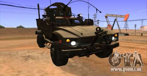 M-ATV из Call of Duty: Ghosts pour GTA San Andreas vue intérieure