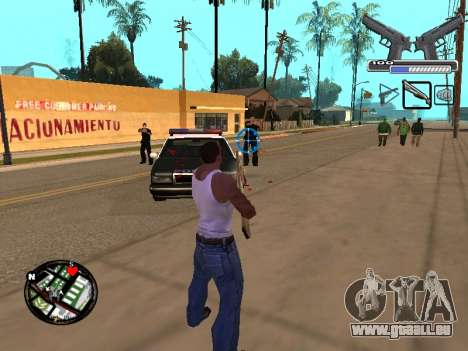 С-HUD par MoLoT pour GTA San Andreas troisième écran