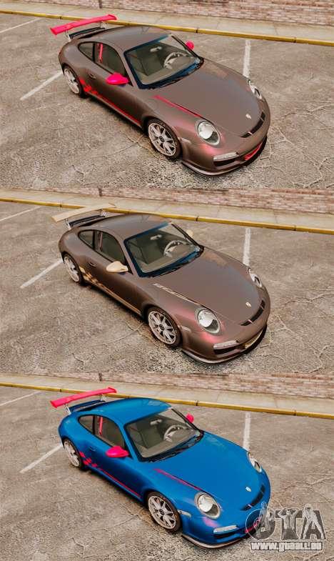 Porsche 997 Carrera GT3 RS pour GTA 4 est une vue de l'intérieur