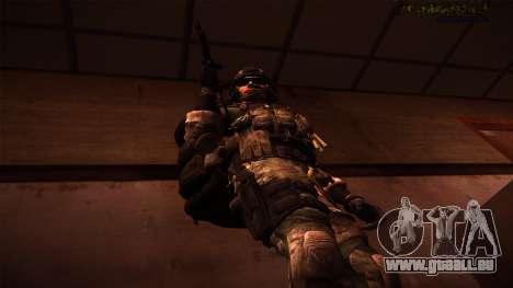 Ranger из Call Of Duty: Ghosts pour GTA San Andreas troisième écran