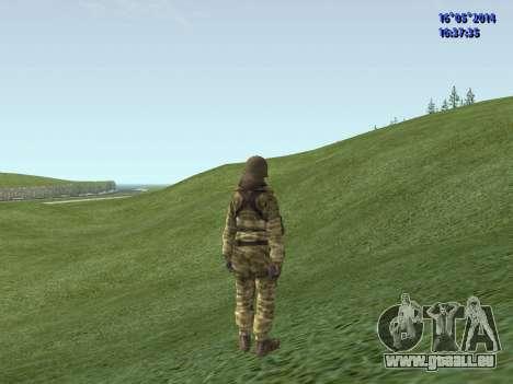 Militaire en tenue de camouflage pour GTA San Andreas deuxième écran