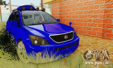 Lexus RX400h 2010 pour GTA San Andreas vue de droite
