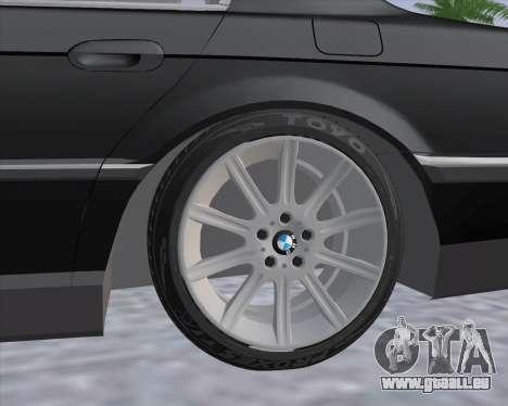 BMW 7-series E38 pour GTA San Andreas sur la vue arrière gauche