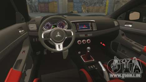 Mitsubishi Lancer Evolution X FQ400 (Cor Rims) pour GTA 4 vue de dessus