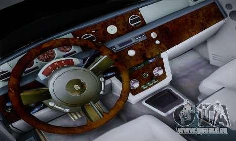 Rolls-Royce Phantom für GTA San Andreas Innenansicht