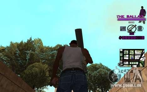 C-HUD The Ballas Gang für GTA San Andreas dritten Screenshot