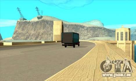 Nouveau barrage Sherman pour GTA San Andreas troisième écran