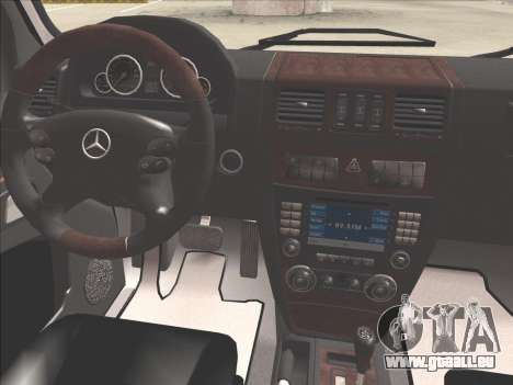 Mercedes-Benz G500 pour GTA San Andreas salon