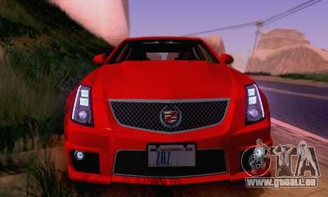 Cadillac CTS-V Sedan 2009-2014 pour GTA San Andreas roue