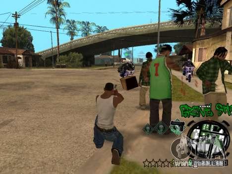 C-HUD Groove Street für GTA San Andreas neunten Screenshot