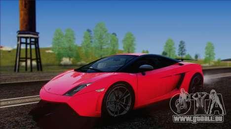 Lamborghini Gallardo LP570-4 Edizione Tecnica pour GTA San Andreas sur la vue arrière gauche