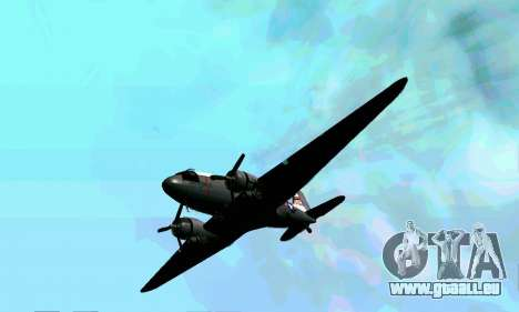 C-47 Dakota de l'USAF pour GTA San Andreas vue intérieure