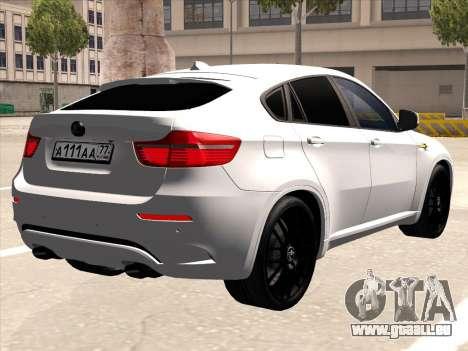BMW X6 Hamann für GTA San Andreas Rückansicht