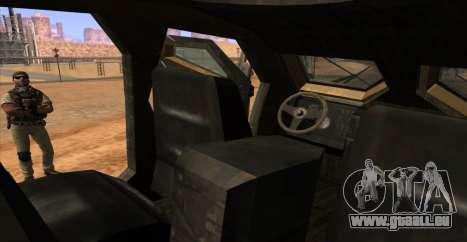 M-ATV из Call of Duty: Geister für GTA San Andreas obere Ansicht