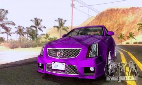 Cadillac CTS-V Sedan 2009-2014 pour GTA San Andreas sur la vue arrière gauche