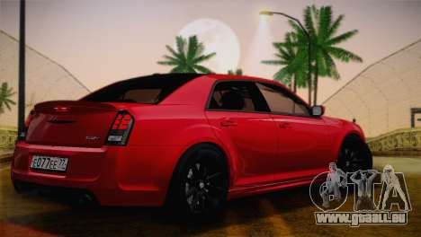 Chrysler 300 SRT8 Black Vapor Edition für GTA San Andreas Rückansicht