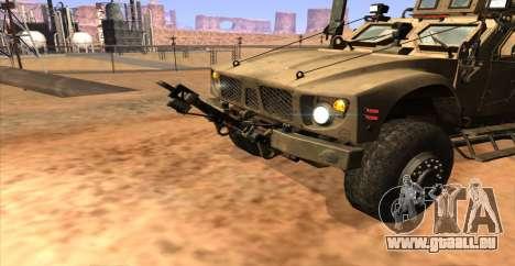 M-ATV из Call of Duty: Geister für GTA San Andreas zurück linke Ansicht