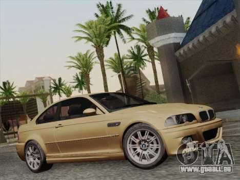 BMW M3 E46 2005 pour GTA San Andreas vue arrière