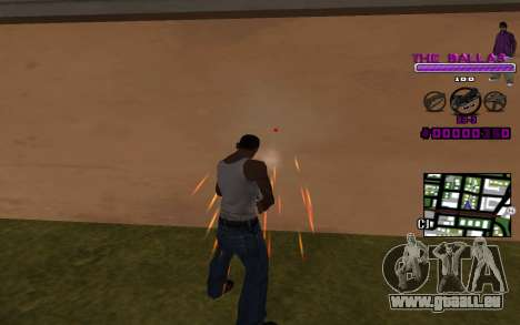 C-HUD The Ballas Gang für GTA San Andreas zweiten Screenshot