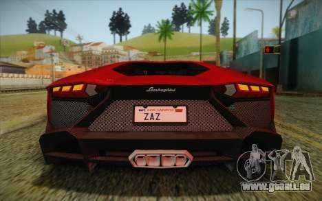 Lamborghini Aventador LP720-4 2013 pour GTA San Andreas vue de dessous