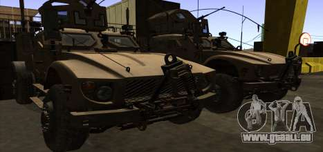 M-ATV из Call of Duty: Ghosts pour GTA San Andreas vue de dessous