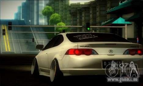Acura RSX Stance für GTA San Andreas Rückansicht