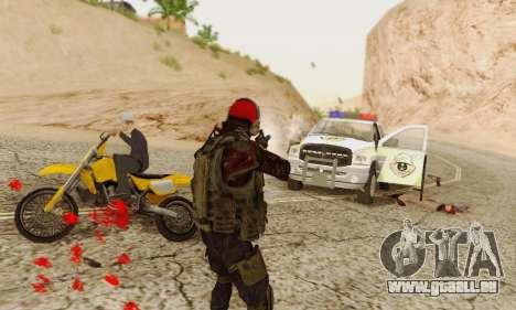 Blood On Screen für GTA San Andreas fünften Screenshot