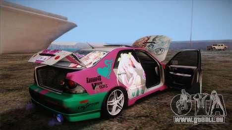 Toyota Altezza Sakura Miku Itasha für GTA San Andreas Seitenansicht