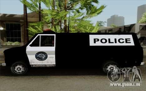 S.W.A.T van für GTA San Andreas zurück linke Ansicht