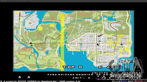 Carte en temps réel pour GTA San Andreas