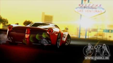 Ferrari LaFerrari 2014 für GTA San Andreas zurück linke Ansicht