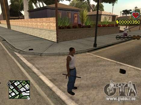 C-HUD Guns pour GTA San Andreas deuxième écran
