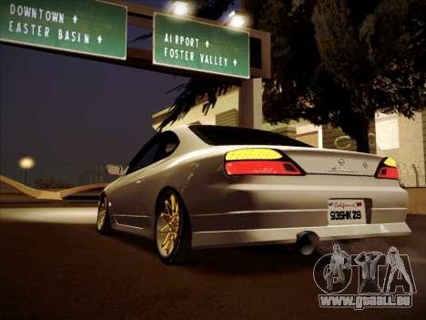 Nissan Silvia S15 Stanced pour GTA San Andreas laissé vue
